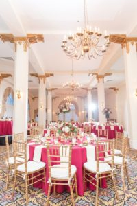 Interior of Candlelight Ballroom Decorated for a Wedding