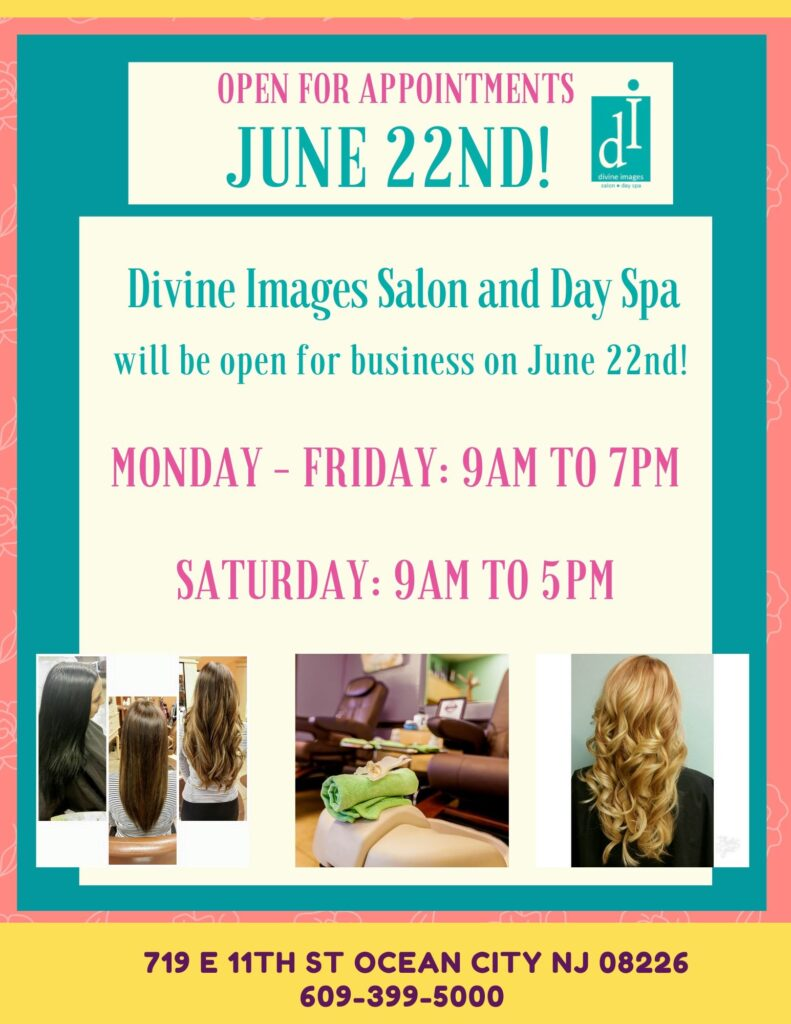 Divine Images Salon Monday Through Friday 9 am to 7 am. Saturday 9am to 5pm