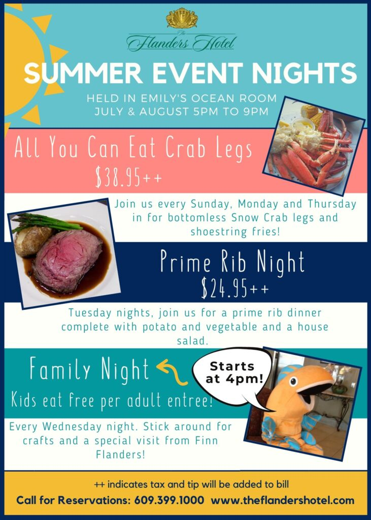 Summer Event Nights flyer. Click for Readable format.